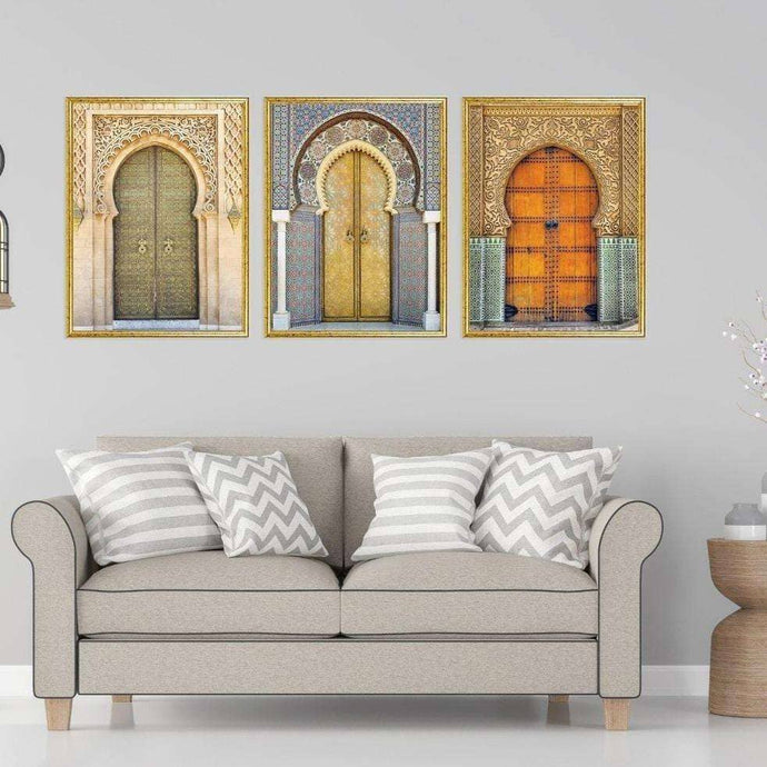 Moroccan Gate Wall Art - Set of 3