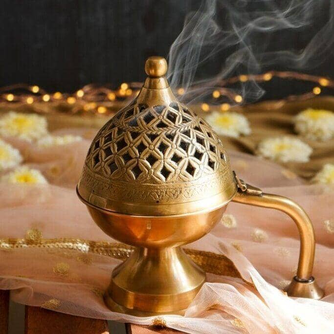 Home Purifying Brass Hand Loban