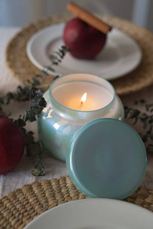 Apple Cinnamon Aroma Candle Jar