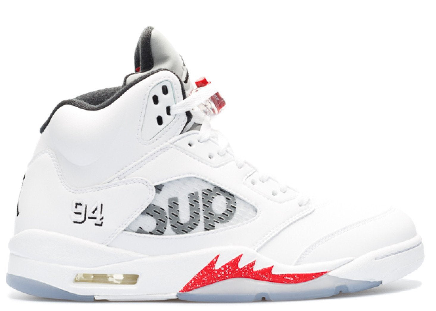 """b17d2d94892 Load image into Gallery viewer, 100% AUTHENTIC White Nike Air Jordan 5 Retro  """" ..."""