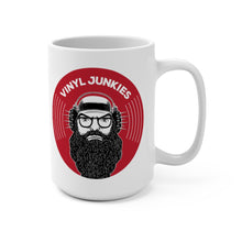 Load image into Gallery viewer, Vinyl Junkies - VJ Record Logo - 15oz Coffee Mug