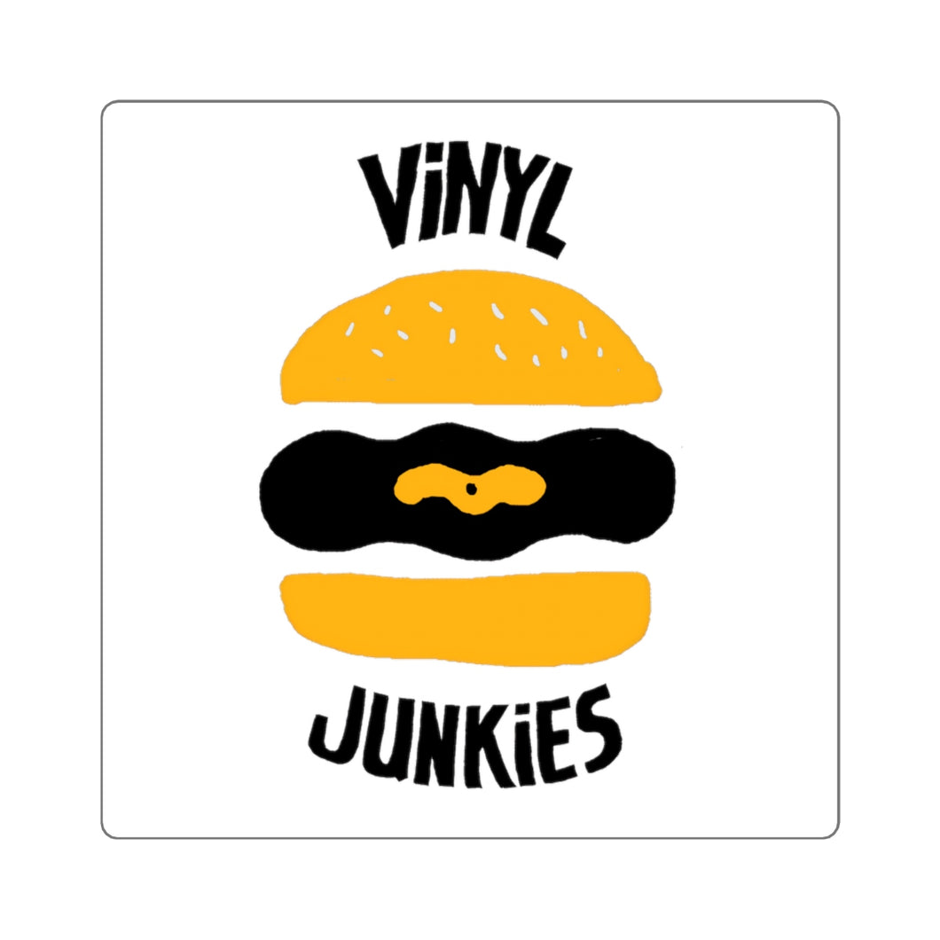 Vinyl Junkies - Burger Logo Sticker