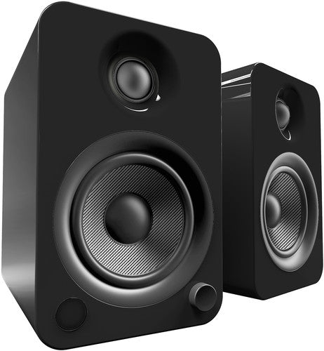 Kanto YU4 Powered Speakers with Bluetooth™ and Phono Preamp - Pair, Gloss Black