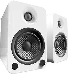 Kanto YU4 Powered Speakers with Bluetooth™ and Phono Preamp - Pair, Matte White