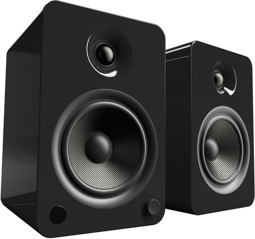 Kanto YU6 Powered Speakers with Bluetooth™ and Phono Preamp - Pair, Gloss Black