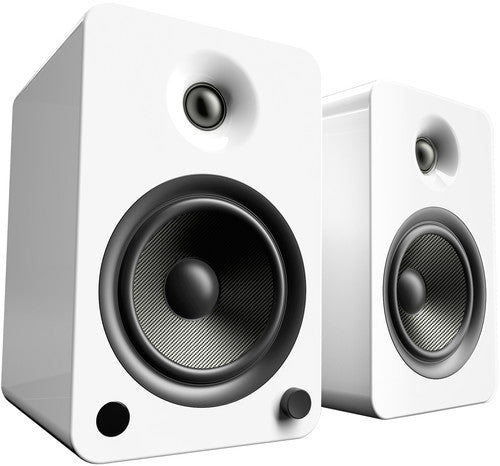 Kanto YU6 Powered Speakers with Bluetooth™ and Phono Preamp - Pair, Gloss White