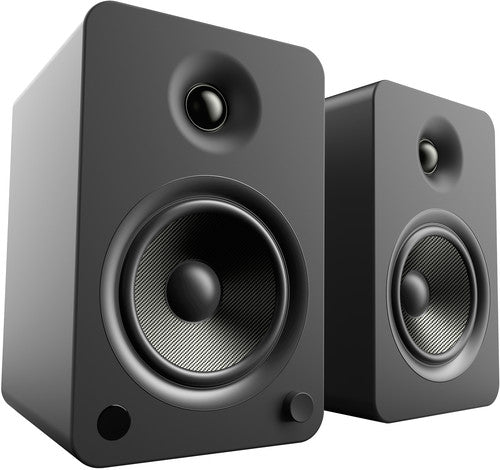 Kanto YU6 Powered Speakers with Bluetooth™ and Phono Preamp - Pair, Matte Black