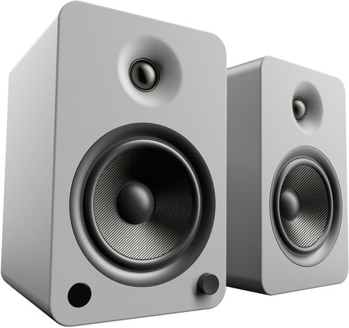 Kanto YU6 Powered Speakers with Bluetooth™ and Phono Preamp - Pair, Matte Grey