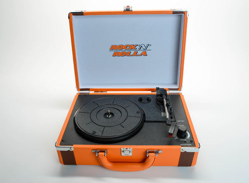 ROCK'N'ROLLA Premium Rechargeable Portable Briefcase Turntable - Orange