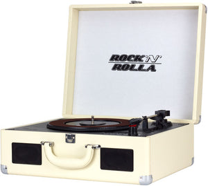 Rock 'N' Rolla XL - Vinyl Record & CD Player Portable Turntable Bluetooth USB - Beige