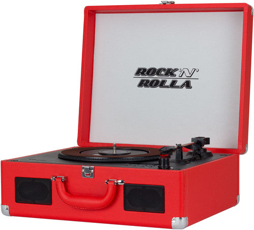 Rock 'N' Rolla XL - Vinyl Record & CD Player Portable Turntable Bluetooth USB - Red