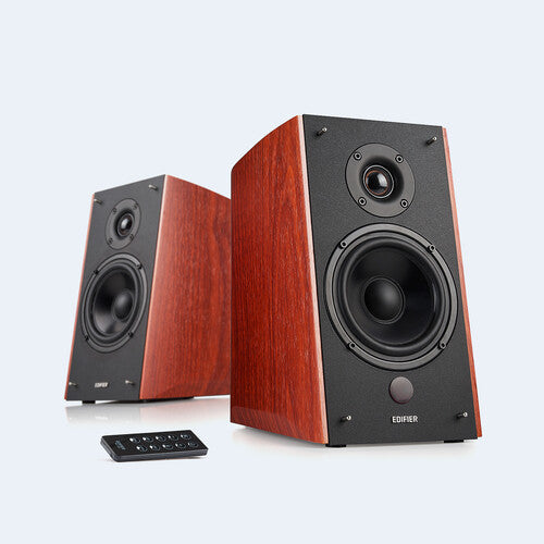 Edifier R2000DB Wood 2.0 Book Shelf Speakers Bluetooth Optical Input120 Watts Classic Wood Grain