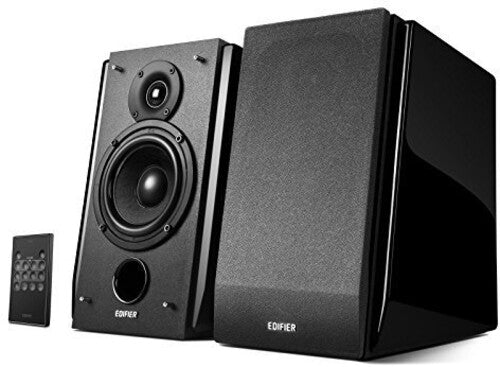 Edifier R1850DB 2.0 Book Shelf Speakers Active Bluetooth 4.0 OpticalInput Subwoofer Line Out 70 Watt Piano Black