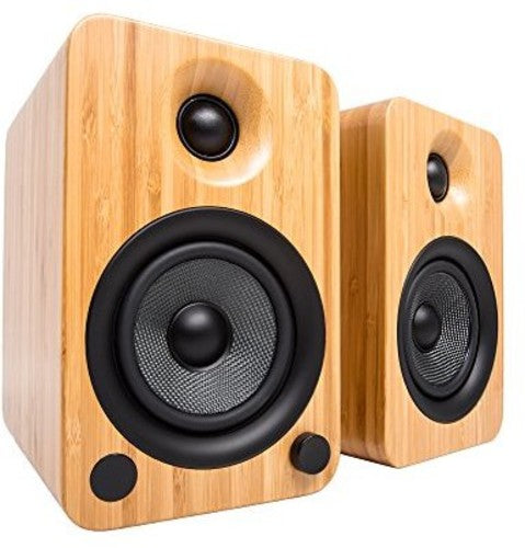 Kanto YU4 Powered Speakers with Bluetooth and Phono Preamp (Bamboo)