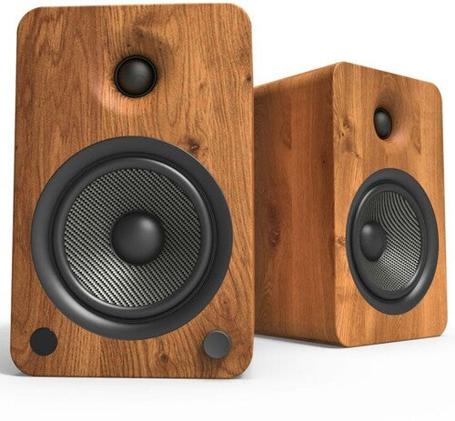 Kanto YU6WALNUT Powered Speakers with Bluetooth and Phono Preamp,Walnut