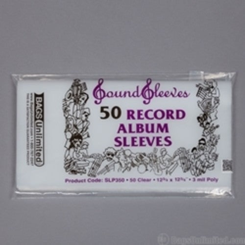 Bags Unlimited SLP350 3 Mil Poly Album Sleeve 50 count 12 3/4 x 12 3/4