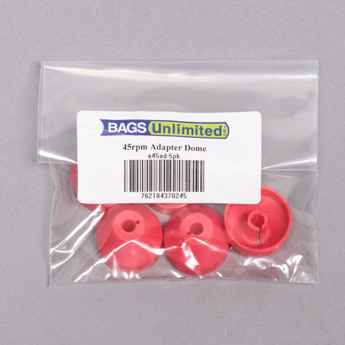 Bu A45Ad5Pk 45RPM Record Adaptor Dome 5 Pack