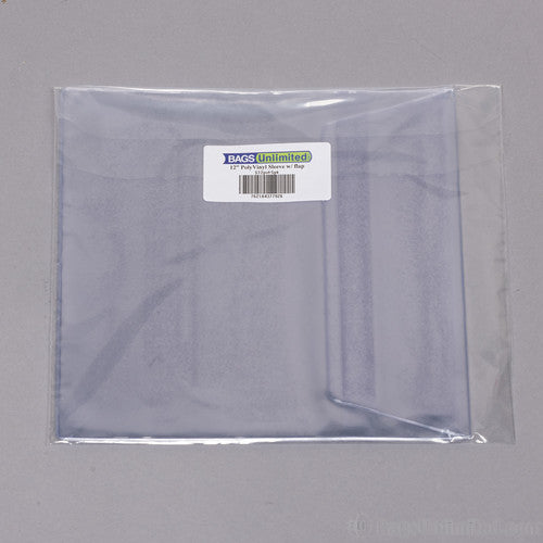 Bu S12PVF5PK 8 GG Polyvinyl Sleeve with Flap 5 PK