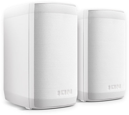 ION iSP90 InstaSound Bluetooth Outdoor Speaker Pair IPX4 RechargeableMountable White