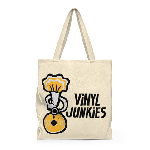 Vinyl Junkies - Phonograph Logo Record Tote Bag