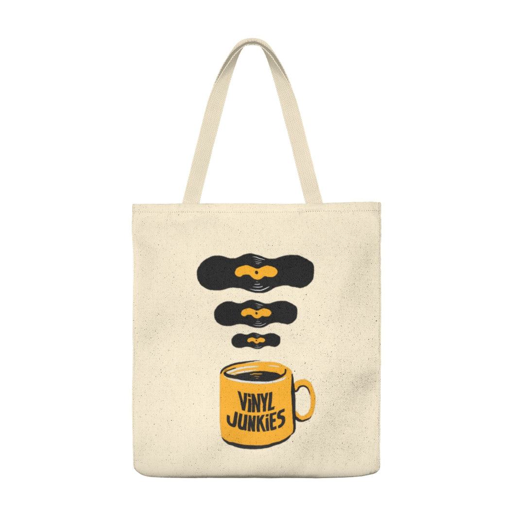 Vinyl Junkies - Coffee Logo Record Tote Bag