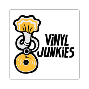 Vinyl Junkies - Phonograph Logo Sticker