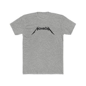 Vinyl Junkies - Black on Gray Mohrön Metallica Logo Tee - Men's