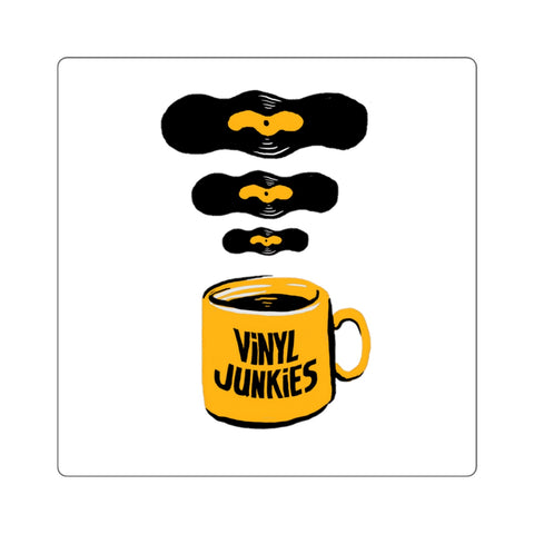 Vinyl Junkies - Coffee Logo Sticker