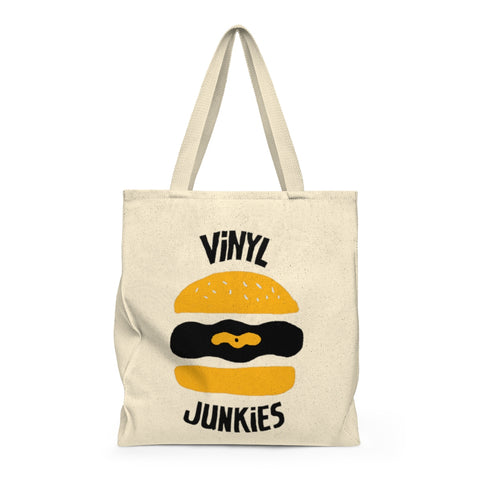 Vinyl Junkies - Burger Logo Record Tote Bag
