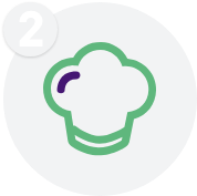 healthy chef cooked meal icon
