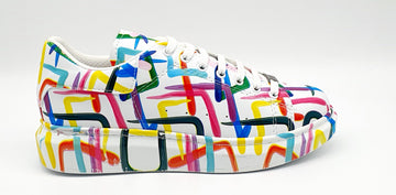 WAG99 MENS MULTI PAINT SNEAKER