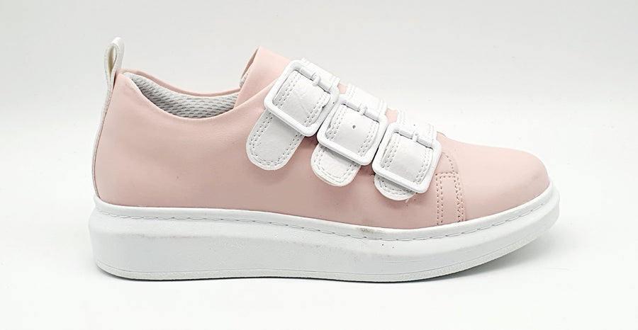 WAG002 LADIES BUCKLE SOFT PINK SNEAKER