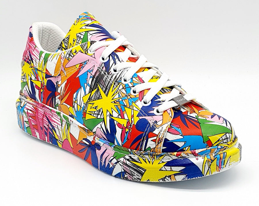 WAG98 MENS MULTI SPLASH SNEAKER
