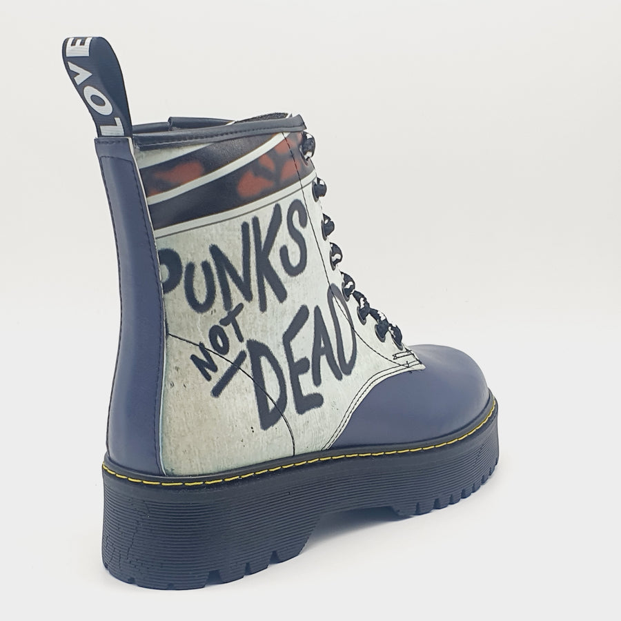 WAG401 LADIES WHITE BLUE BOOT