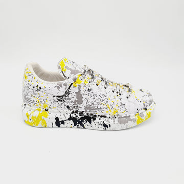 WAG99 MENS YELLOW SPLASH SNEAKER