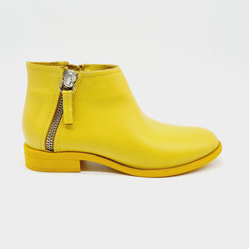 RUG 6610 YELLOW LADIES LEATHER ANKLE BOOT