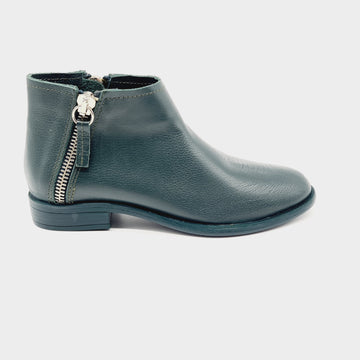RUG 6610 GREEN LADIES LEATHER ANKLE BOOT