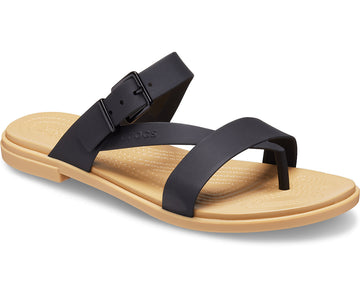 CROCS TULUM TOE POST BLK TAN