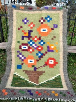 Hand Made thick wool vegan rugs
