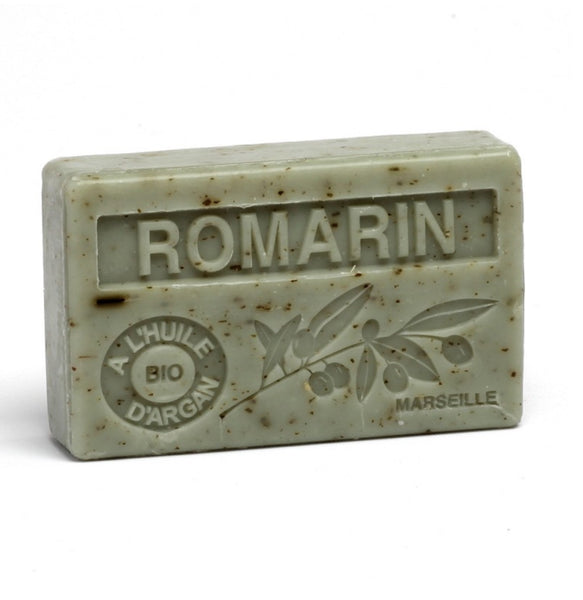 Organic Argan Oil French soap with Crushed Rosemary  Vegan