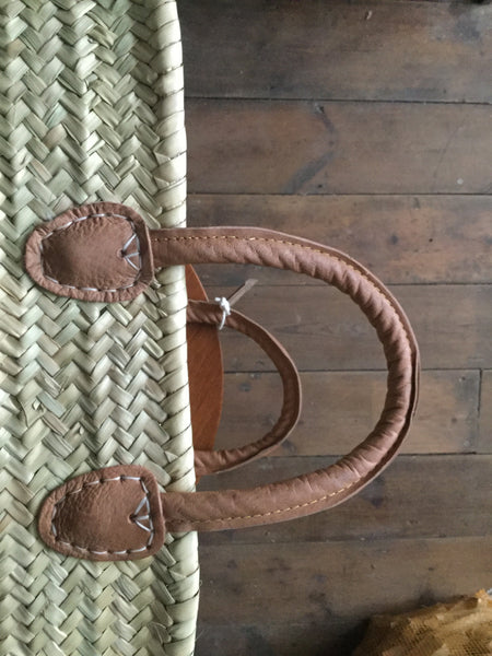 French Market Basket Leather Handles