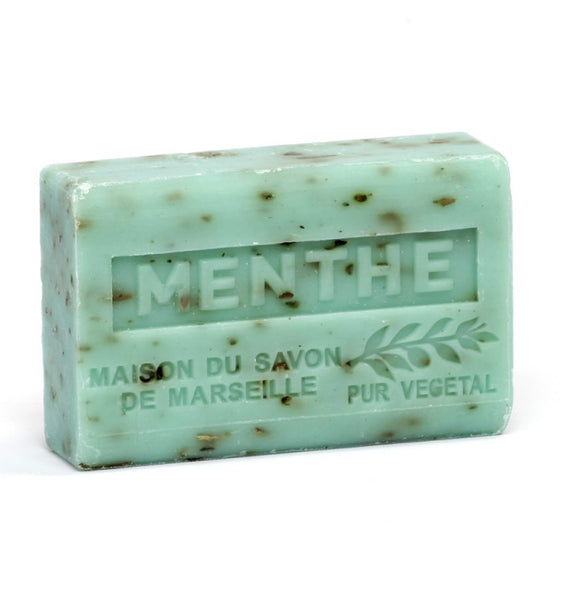 Shea Butter French soap with Crushed Mint Leaves Vegan