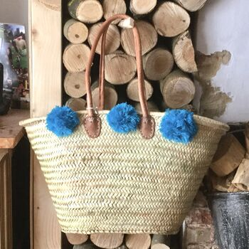 French Market Shopping Basket Bag