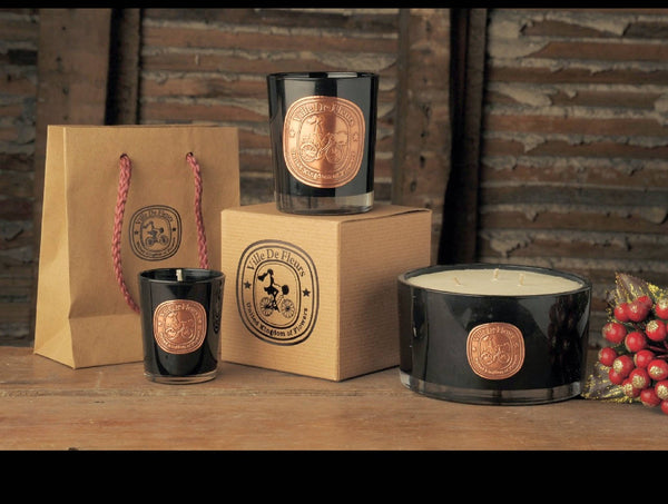 Black Pomegranate soy candle - Queen Cleopatra's Secret - Christmas gift, Birthday gift,  gift for her, gift for cyclist