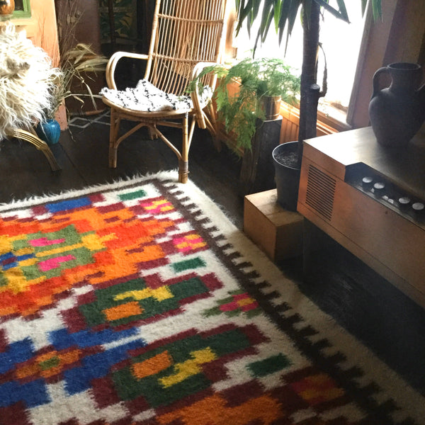 Pumpkin Spice And Everything Nice Hand Woven Wool Rug Custom Made