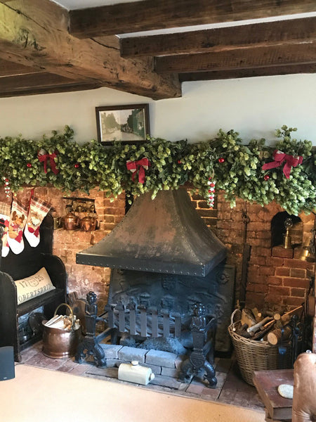 Natural Christmas Garland Kiln Dried Hops