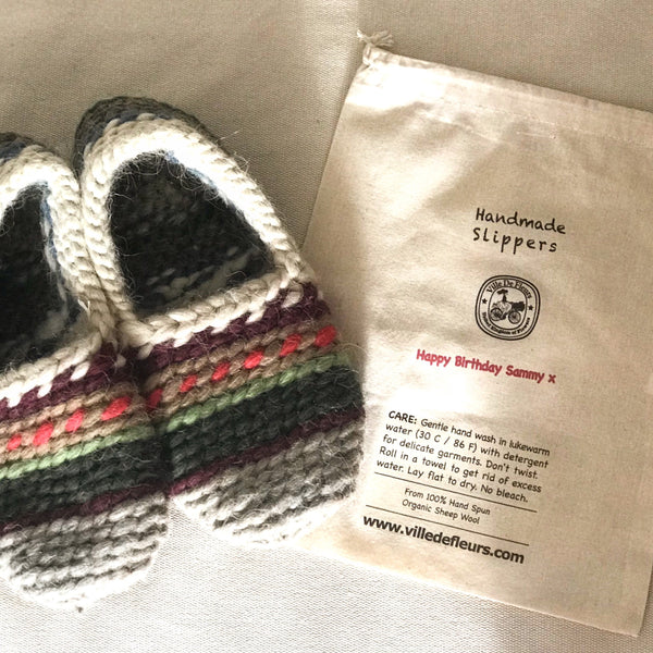 Handmade Unisex Organic Sheep Wool Slippers Lucky Dip