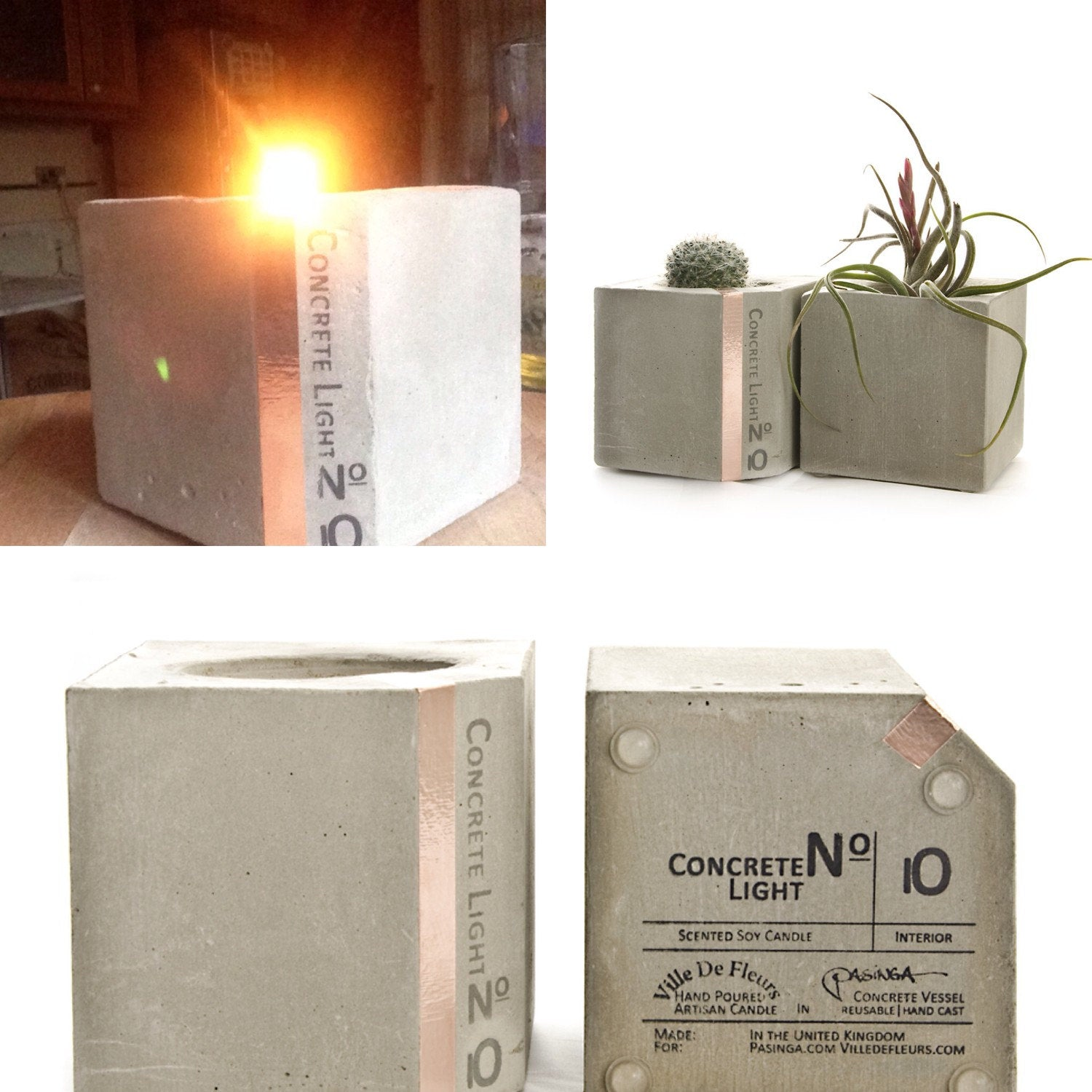 Concrete Candle Chocolate macaroon