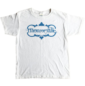 "Youth ""Classic Monroeville Logo"" T-shirt White"