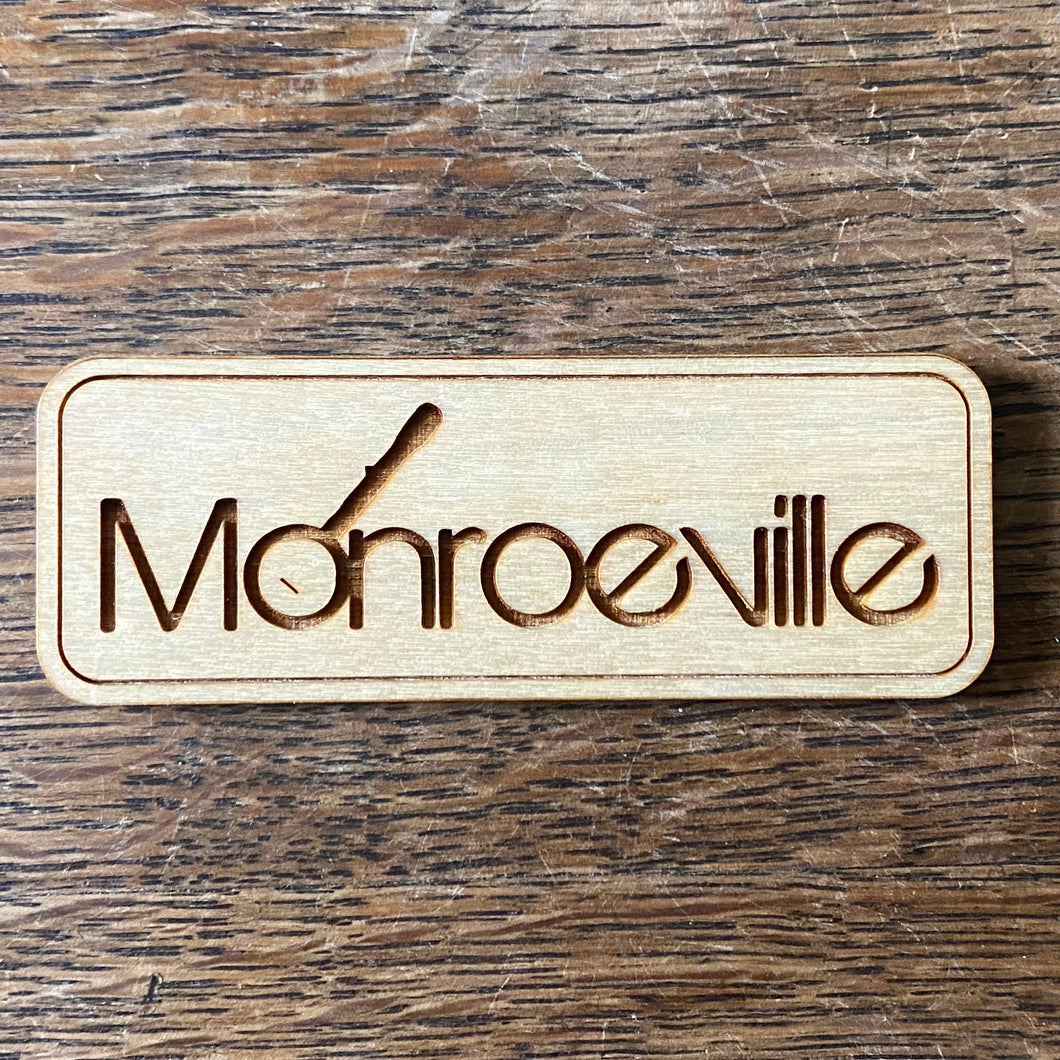 Monroeville Wooden Magnet Rectangle 3.25in